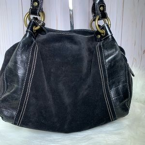 Fossil Black Leather & Suede Bag